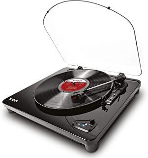 ION Audio Air LP | Vinyl Record Player / Bluetooth Turntable with USB Output for Conversion and Three Playback Speeds – Bl...