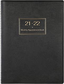 2021 2022 Diary A4 Week to View Hourly Planner in 15 Minutes, July. 2021 - June. 2022, 21.8 x 29 cm, Softcover Appointment...