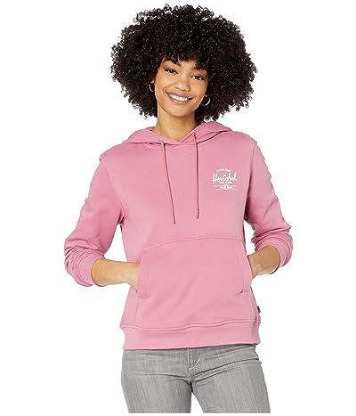 Herschel Supply Co. Pullover Hoodie (Classic Logo Heather Rose/White) Women