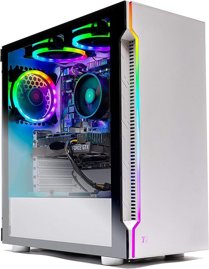 SkyTech Archangel Gaming Computer PC Desktop – Ryzen 5 3600 3.6GHz, GTX 1650 4G, 500GB SSD, 8GB DDR4 3000MHz, RGB Fans, Windows 10 Home 64-bit, 802.11AC Wi-Fi | Amazon