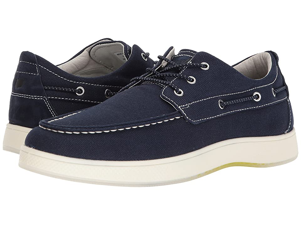 Florsheim Edge Moc Toe Boat Shoe (Navy Canvas/Navy Nubuck) Men