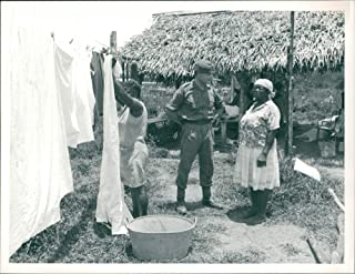 Vintage photo of Irish guards laundry at camp rideau in southern belize.