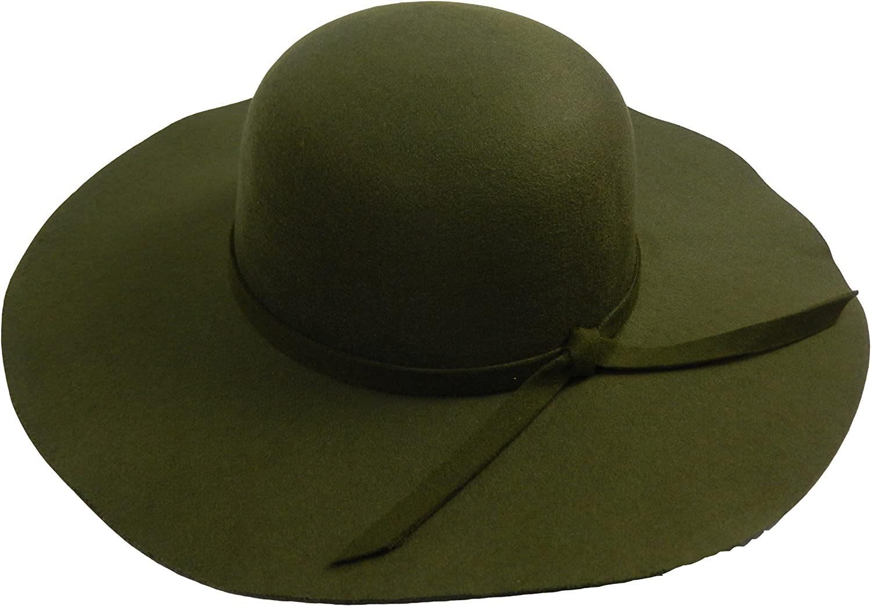 CHIC Fashion Simple Casual Hat for Women Wide Brim Fedora Retro Floppy Jazz Bucket Cap