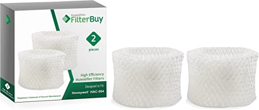 FilterBuy Honeywell HAC-504AW Compatible Humidifier Filters (Pack of 2). Designed to fit Honeywell HCM-600, HCM-710, HCM-300T & HCM-315T. Compare to Part # HAC-504AW / HAC-504