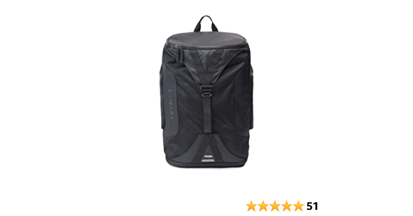 lamaki City Gym Backpack Black Edition Fashionable Functional Sports Office Shopping Travel Urban Jungle Commuter Lightweight Unisex Reflective Extra Shoe Wet Compartments Large Capacity 25L