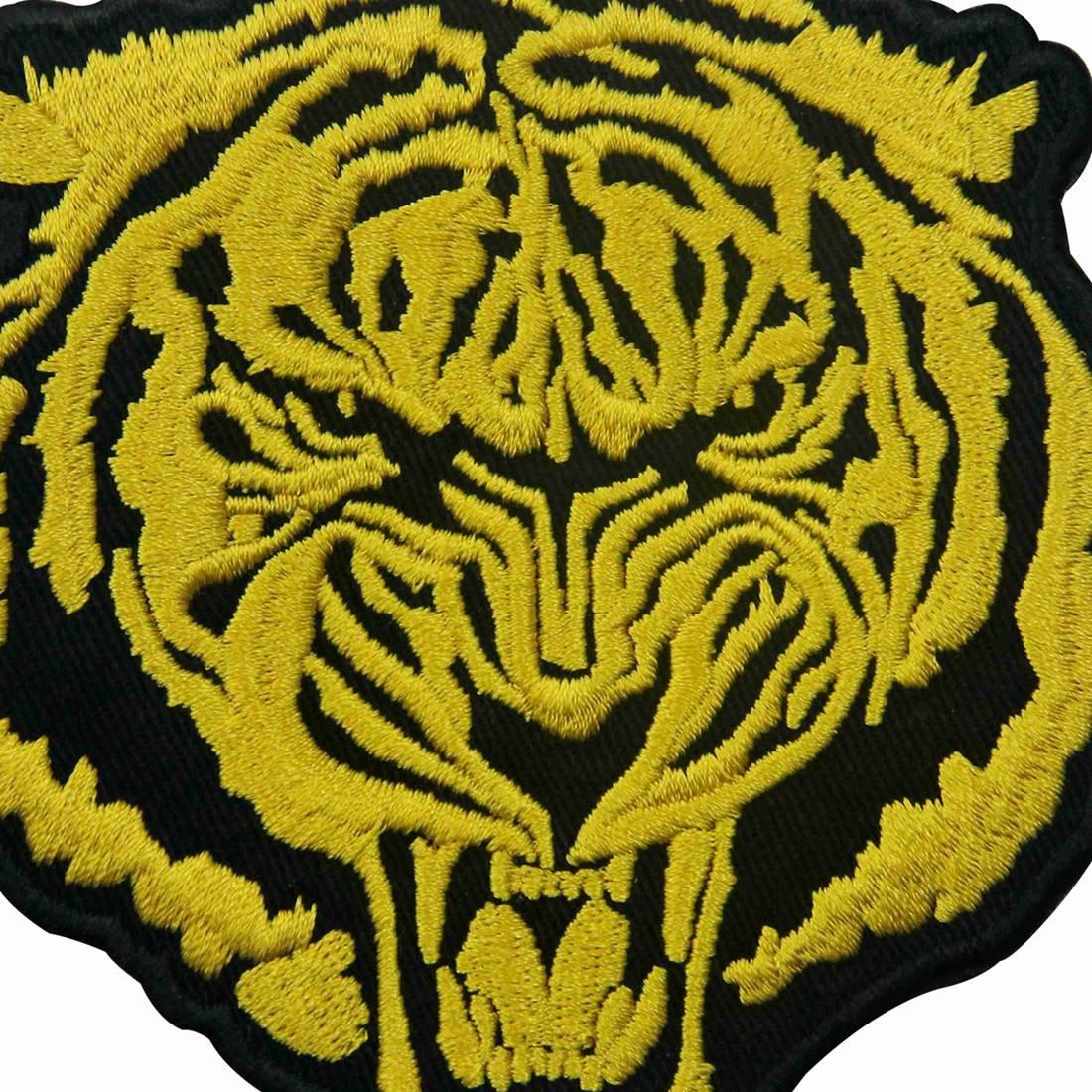 Parche termoadhesivo para la ropa, diseño de El tigre de oro rugiente: Amazon.es: Hogar