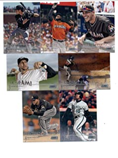 2015 Topps Stadium Club Baseball Cards Miami Marlins Team Set (7 Cards) Including Giancarlo Stanton, Christian Yelich, Marcell Ozuna, Mike Morse