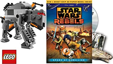 Star Wars Lego Rebels: Spark of Rebellion Animated Movie DVD & FIRST ORDER SPECIAL FORCES LEGO TIE FIGHTER + 3D Ghost Ship Sci-Fi Set