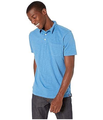 The Normal Brand Vintage Slub Pocket Polo (Vallarta Blue) Men