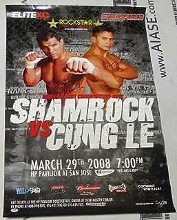 Frank Shamrock & Cung Le Signed 2008 StrikeForce MMA Poster COA UFC Auto - PSA/DNA Certified - Autographed UFC Event Poster