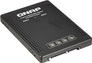 "QNAP Dual M.2 SATA SSD to 2.5"" SATA RAID Adapter Converter - 2 x M.2 2280 SSD to 3.5"" SATA Adapter with RAID support for P..."