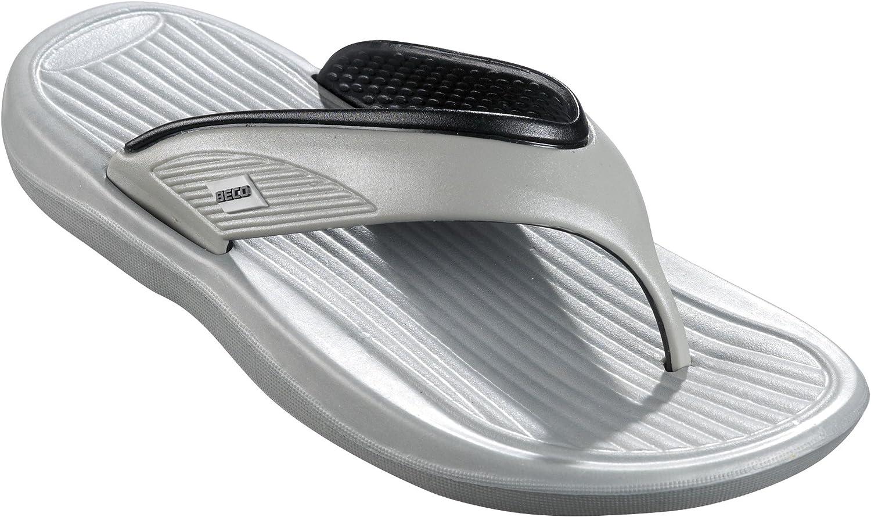Beco V ついに再販開始 Men Strap Slipper 9257 Unisex 返品送料無料 Silver 43 Grey