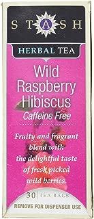 Stash Wild Raspberry Hibiscus Caffeine Free Tea, 30 Count Tea Bags in Foil (Pack of 2)