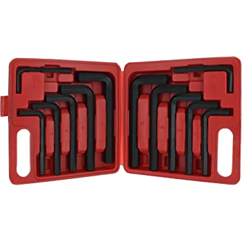 Powerbuilt 13 Piece SAE Jumbo Long Point Magnetic Hex Key Wrench 5//64-3//4-941641 Allen Hex Key Wrench