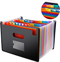 File Folder Organizer/24 Pockets Hot Pressing Forming Document Organizer with Cloth Edge..
