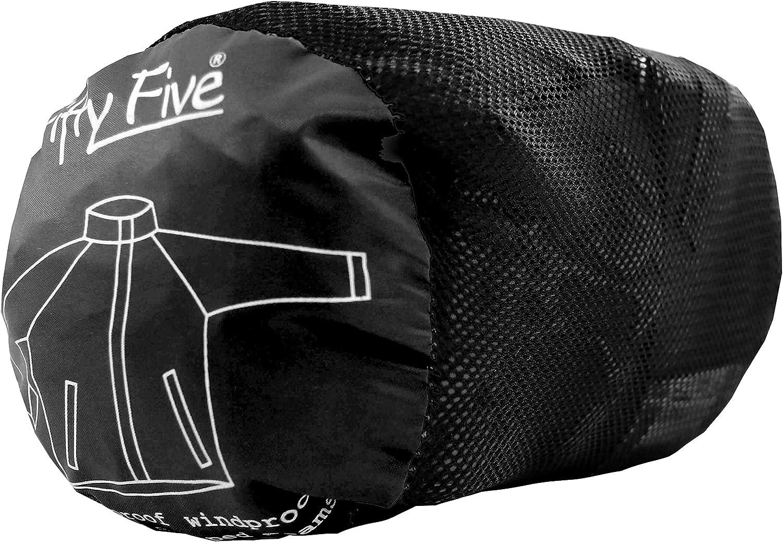 Fifty Five Leichte Regenjacke Funktionsjacke Wellington Schwarz (Black 010)