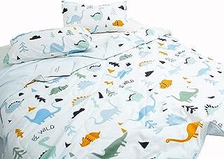 J-pinno Dinosaur Quilt Comforter Throw Blanket Full for Kids Boys Bedding Coverlet Sofa (Full 78