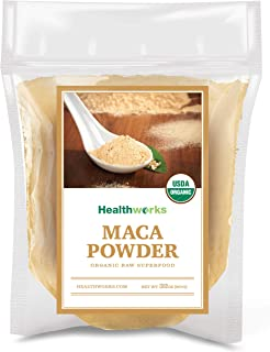 Healthworks Maca Powder Raw (32 Ounces / 2 Pounds) | Certified Organic Flour Use | Keto, Vegan & Non-GMO | Premium Peruvian Origin | Breakfast, Smoothies, Baking & Coffee |...