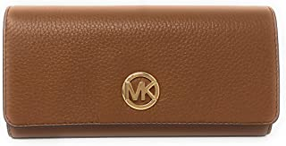 1fb0ee88f922 Michael Kors Fulton Flap Continental Carryall Clutch Wallet Purse in Luggage