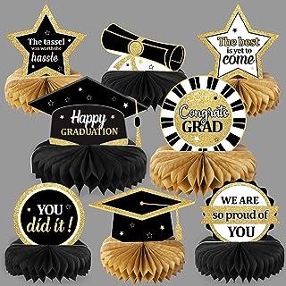 2021 Graduation Party Decorations Class of 2021 Congrats Grad Honeycomb Centerpieces Congratulate Graduation Table Toppers...