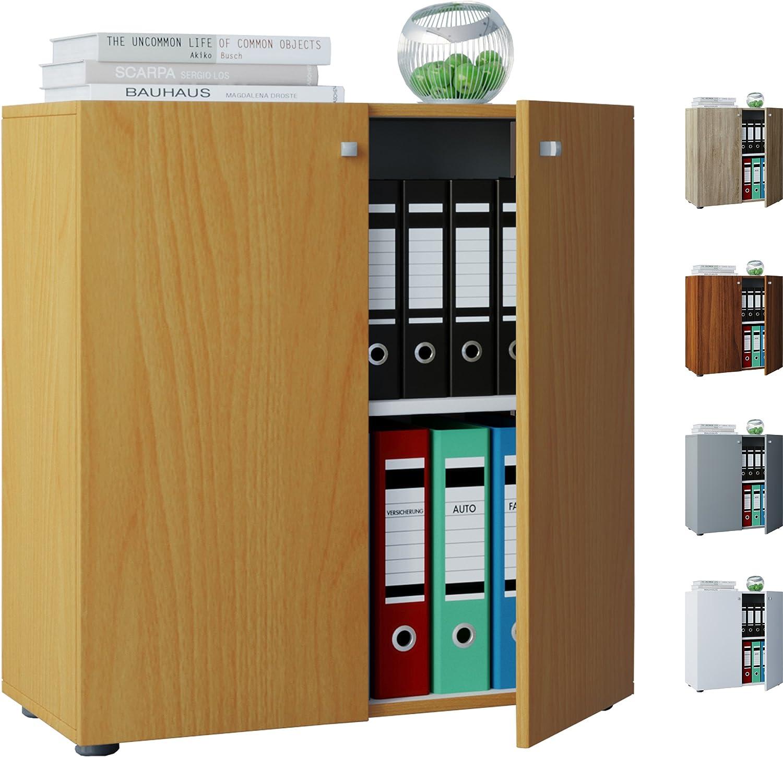 VCM Sideboard Kommode Anrichte Aktenschrank Bücherregal Büroschrank Dielenmbel Wei 70x70x40 cm Vandol Mini