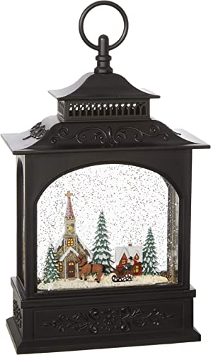 "RAZ Imports 11"" TOWN SCENE LIGHTED WATER LANTERN"