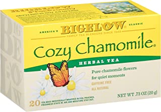 Bigelow Cozy Chamomile Herbal Tea Bags, 20 Count Box (Pack of 6) Caffeine Free Herbal Tea, 120 Tea Bags Total