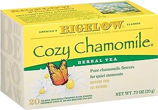 Bigelow Cozy Chamomile Herbal Tea Bags, 20 Count Box (Pack of 6) Caffeine Free Herbal Tea, 120 Tea Bags Total