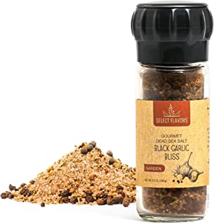 Select Flavors Gourmet Flavored All Natural Black Garlic Bliss Spice Blend 3.5 oz Grinder Top