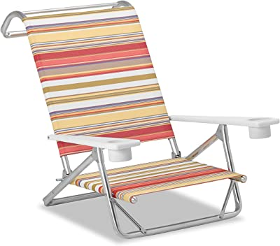Telescope Casual M54131002 Original Mini-Sun Chaise, Multi-Color Stripe, 2 Pack