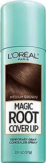 L'Oreal Paris Magic Root Cover Up Gray Concealer Spray, Medium Brown, 2 Oz(Packaging May Vary)