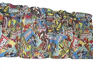 Handmade Marvel Retro Comic Cotton Window Curtain Valance