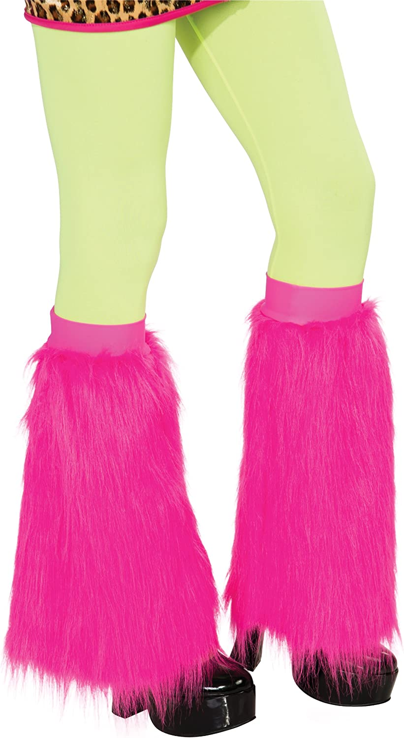 Rubie's Fluffies Faux Furry Leg Easy-to-use Indefinitely Warmers Size Pink One
