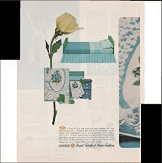 Cannon Royal Family Of Home Fashions Towels Linens Home Bathroom 2 Page 1965 Vintage Antique Advertisement