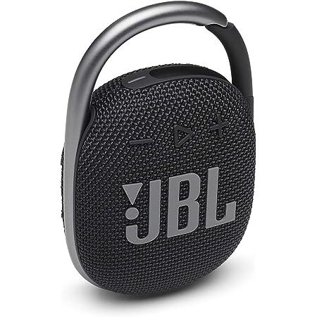 JBL Clip 4: Portable Speaker with Bluetooth, Built-in Battery, Waterproof and Dustproof Feature - Black (JBLCLIP4BLKAM)