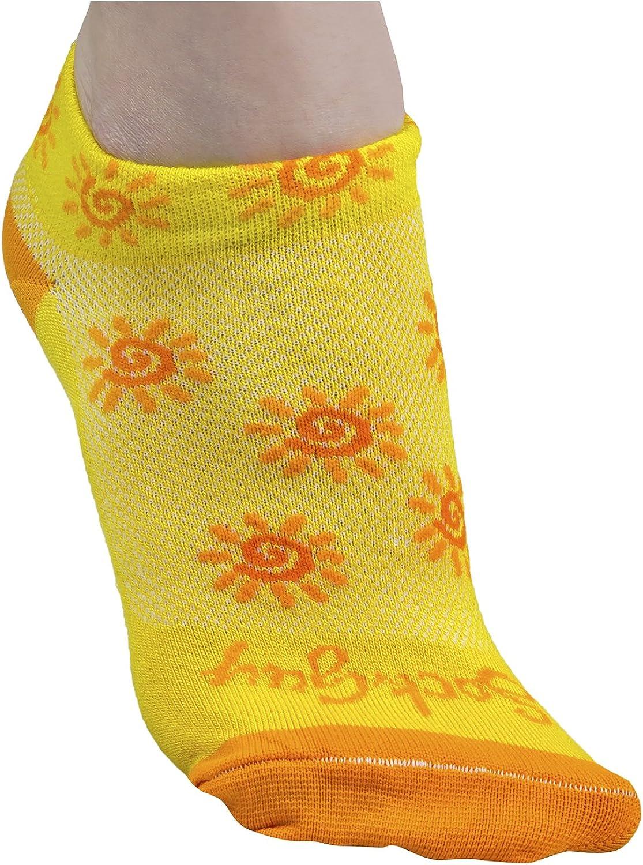 SockGuy Women's 1in Sunshine Cycling/Running Socks