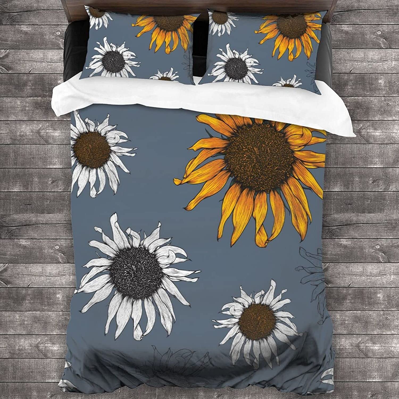 Sunflower Bedding Set Very popular 3 Piece Microf Be super welcome Sets Comforter Light-Weight