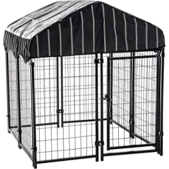 "Lucky Dog - Pet Resort Heavy Duty Dog Outdoor Playpen with Water-Resistant Cover, 54""H x 4'W x 4'L"