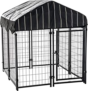 """Lucky Dog - Pet Resort Heavy Duty Dog Outdoor Playpen with Water-Resistant Cover, 54""""H x 4'W x 4'L"""