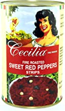Cecilia Sweet Roasted Peppers Strips, 4 kg
