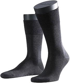 FALKE Socken Tiago Baumwolle Herren schwarz weiß viele weitere Farben verstärkte Herrensocken ohne Muster atmungsaktiv dünn und einfarbig 1 Paar