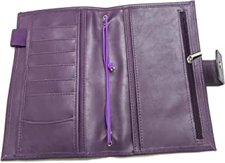 Purple Mega Weeks Cover for Hobonichi Planners Faux/Vegan Leather Agenda Organizer Diary Open Top Pocket