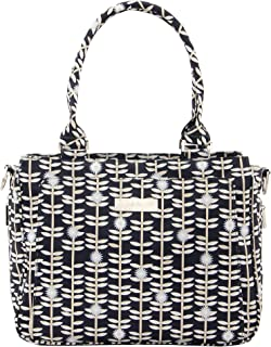 JuJuBe Be Classy Structured Multi-Functional Diaper Bag/Purse, Classic Collection - Dandy Lines