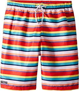 Toobydoo Multi Stripe Swim Shorts (Infant/Toddler/Little Kids/Big Kids)
