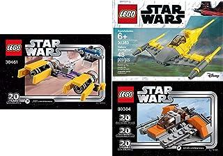 LEGO Star Wars 20th Anniversary Edition Sets (3) Snowspeeder 30384 PODRACER 30461 Naboo Starfighter 30383 Building Set LEG...
