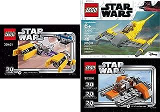 LEGO Star Wars 20th Anniversary Edition Sets (3) Snowspeeder 30384 PODRACER 30461 Naboo Starfighter 30383 Building Set LEGO Bundle Pack (3) Edition Building Set