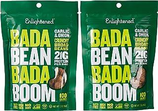 Enlightened Bada Bean Bada Boom Roasted Broad Bean Snacks, Garlic & Onion, 2 x 85 gm