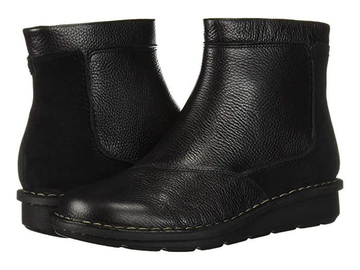 Clarks  Michela Petal (Black Leather/Suede Combi) Womens  Boots