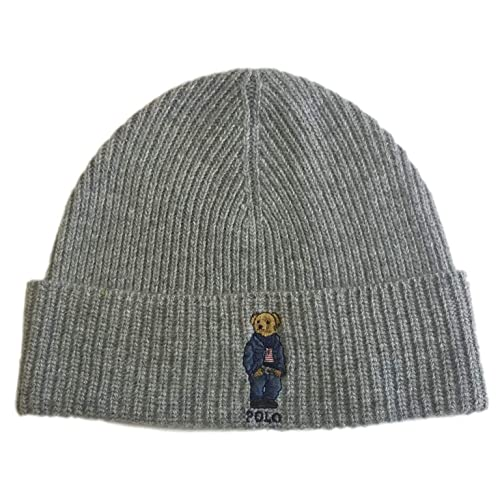 7c7defdcdd8 Polo Ralph Lauren Unisex Bear Design Wool Winter Skulllie Cap Beanie Hat  One Size