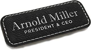 leather name tags